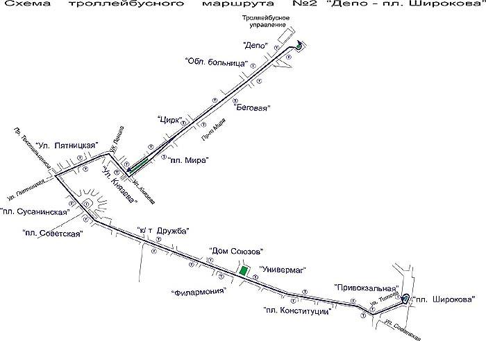 Схама маршрута № 2.